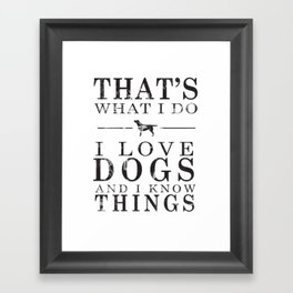 Love Dogs Framed Art Print