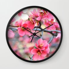 Evening Quince Wall Clock