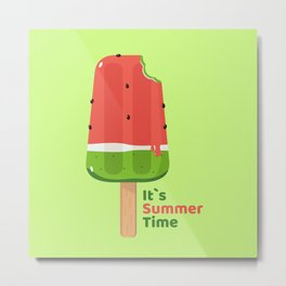 It's Summer Time Popsicle Metal Print