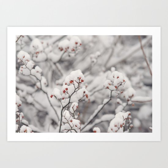 Red Winter Art Print