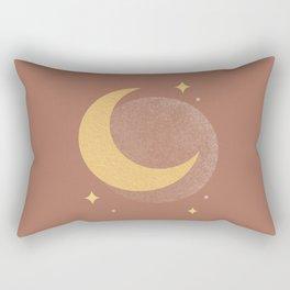 Moon Sparkle Gold - Celestial Rectangular Pillow