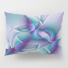 A Colorful Beauty, Abstract Fractal Art Pillow Sham