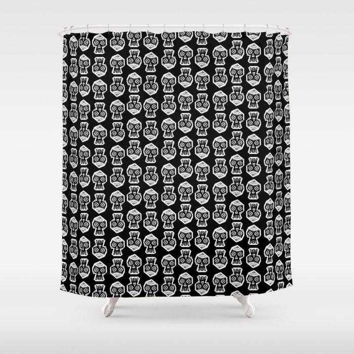 VertexSkull Invert Shower Curtain