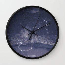 Univers Scorpio  Wall Clock