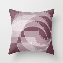 Spacial Orbiting Spiral in Mulberry Throw Pillow