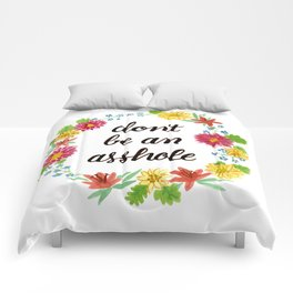 Don't be an Asshole Comforters