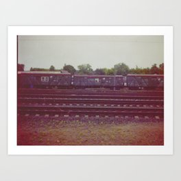 Railway wagons. Russia. Art Print