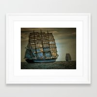 ships Framed Art Prints featuring Ships by InDepth Designs