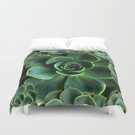 JADE GREEN SUCCULENT ROSETTES DESIGN Duvet Cover