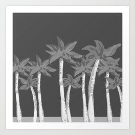 Monochrome Paradise Art Print