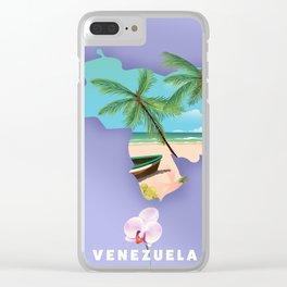 Venezuela map Clear iPhone Case