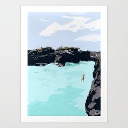 Cliff Jump Art Print