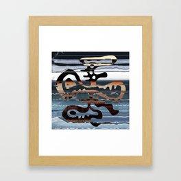 buried symbol Framed Art Print