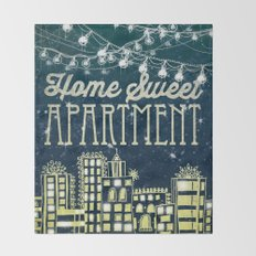 Home Sweet Apartment Throw Blanket