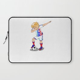 USA Soccer Player Dab Laptop Sleeve