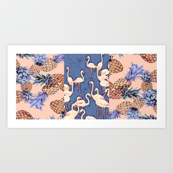 Combination with Pineapple  Art Print