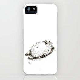 Reclining Swine iPhone Case