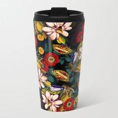 Japanese Floral Pattern Metal Travel Mug