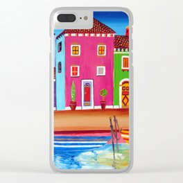 Happy Colours Of Burano Clear iPhone Case