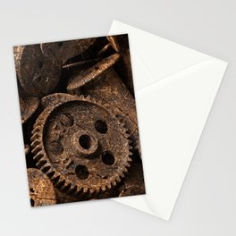 Cracked Wood Bobbins Stationery Cards