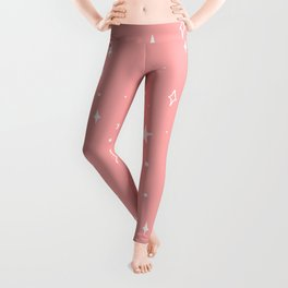 Space Pattern (pink/white) Leggings