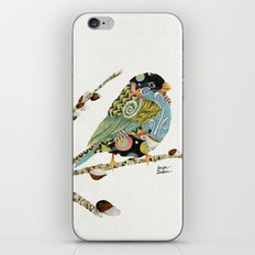 Cafe Swirly Bird 3 iPhone & iPod Skin