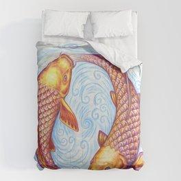 Pisces Fish Yin Yang Mandala Comforters