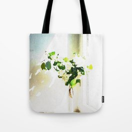 Vase of Flowers with shadows watercolor Tote Bag