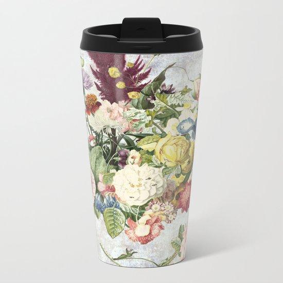 Flourish, spring, burgeon, burst! Metal Travel Mug