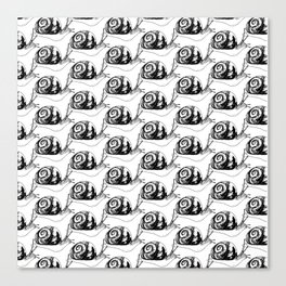 Snails Drawing/Pattern Canvas Print