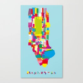 Manhattan Fragments Canvas Print
