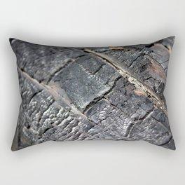 Burnt Log Rectangular Pillow