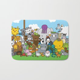 Zoe animals Bath Mat