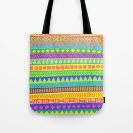 Happy colors inka pattern Tote Bag