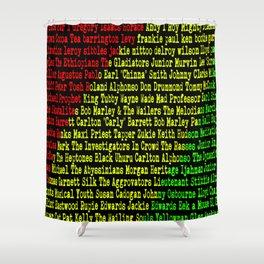 Reggae Artist - Roll Call Shower Curtain