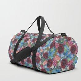 Garden Bouquet  through Stained Glass Duffle Bag
