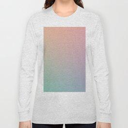 HOLOGRAPHIC - Minimal Plain Soft Mood Color Blend Prints Long Sleeve T-shirt
