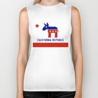 political Biker Tanks featuring Political California Republic Democrat by NorCal