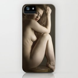on a stool-3 iPhone Case