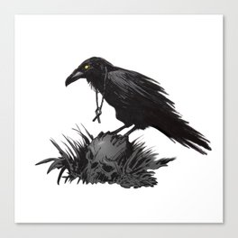Death Poetry Canvas Print
