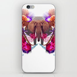Sacred Elephant Laughs at Giant Cosmonauts in Need of Therapy iPhone Skin