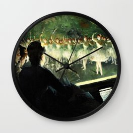 The White Ballet - Everett Shinn Wall Clock