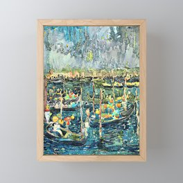 Maurice Brazil Prendergast - Festival, Venice - Digital Remastered Edition Framed Mini Art Print
