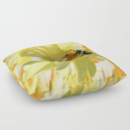 Busy Bumble Bee Floor Pillow