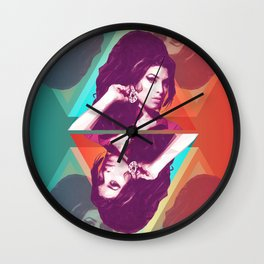 AmyWinehouse LowPoly Collection Wall Clock