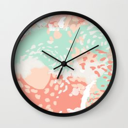 Pippa - Abstract minimal painted pastels painting trendy modern color palette Wall Clock