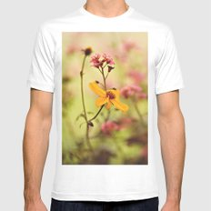 Lemon drop Flower box Mens Fitted Tee White MEDIUM