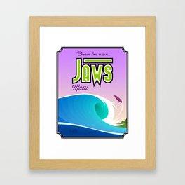 Landmarks of Life™: Jaws, Maui Framed Art Print
