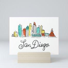 San Diego Mini Art Print