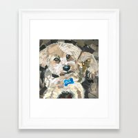 charlie Framed Art Prints featuring Charlie by Maritza Hernandez